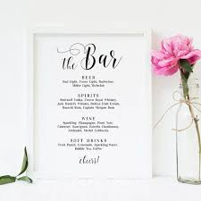wedding bar menu template the 25 best wedding bar menu ideas on wedding drink