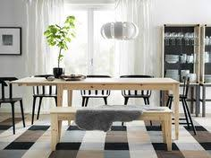 Pull The IKEA NORNÄS Bench Up To Your Dining Table For A Flexible - Dining room tables ikea