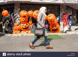 halloween spirit masks beirut lebanon 25th oct 2016 a shop selling halloween costumes