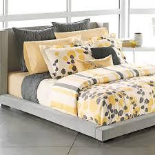 Yellow King Size Comforter Apt 9 Grey Yellow White Modern Ivy Leaves Stripe King Comforter