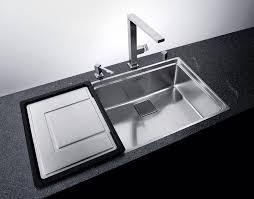 interior modern kitchen design with elegant franke sinks