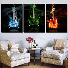 online buy wholesale guitar canvas art from china guitar canvas