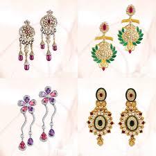 earrings in grt diamond earrings from grt jewellers south india jewels