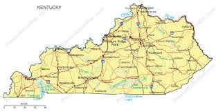 kentucky map kentucky map major cities roads railroads waterways digital