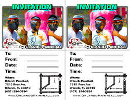 invitations orlando paintball