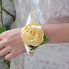 wedding wrist corsage wedding wrist corsage bridesmaid diy silk bracelet