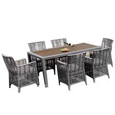 Oasis Outdoor Patio Furniture by Brackenstyle Oasis Light Grey 6 Seat Rattan Garden Dining Set