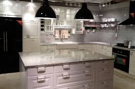 White Kitchen Cabinets With Black Island Kitchen Elegant Kitchen Island With Lowes Quartz Countertops And
