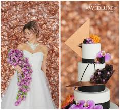wedding cake edmonton modern purple black and gold wedding cake the of cake
