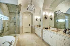 Chandelier Meaning Small Bathroom Chandelier Luxury Master Suite Bathroom