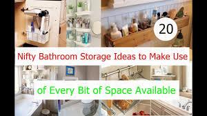 Bathroom Storage Idea 20 Nifty Bathroom Storage Ideas To Make Use Of Every Bit Of Space