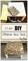 diy ottoman coffee table ikea hack a purdy little house