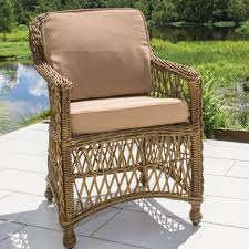 Synthetic Wicker Patio Furniture - everglades honey resin wicker patio dining chair by lakeview