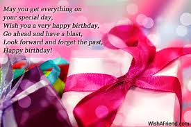 Happy Birthday Wish May You Get Everything On Your Happy Birthday Wishes