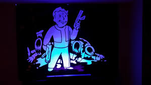 large black light posters fallout vault boy blacklight poster secret santa 2013 redditgifts