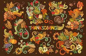 thanksgiving day autumn drawing illustration vector free vector
