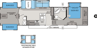bunkhouse fifth wheel floor plans extremely inspiration floor plans for jayco 5th wheels 12 similiar