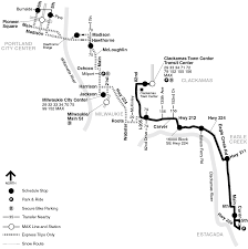 Portland Light Rail Map by 30 Estacada