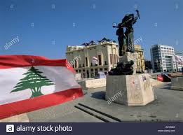 What Tree Is On The Lebanese Flag Lebanese Flag And The Martyrs Statue In The Bcd Place Des Martyrs