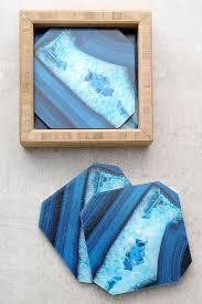 deny designs dark blue agate coasters coaster set 29 00