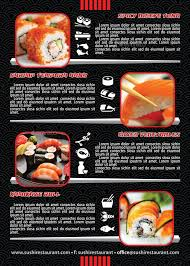 menu flyer template sushi restaurant menu flyer template 105 by 21min graphicriver