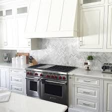 Marble Mosaic Backsplash Tile by Brighten Up Your Kitchen Home With This White And Grey Hue Marble