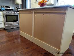 how to install kitchen island base cabinets simple cheap kitchen island back panel practical whimsy