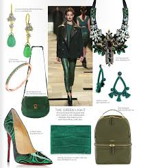style report accessories opposite ends of the color spectrum green and pink happen to be two of the hottest colors for fall this year and coincidentally they fall on opposite sides of that color wheel we all