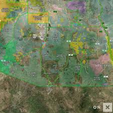The Forest Game Map Arizona Game Management Unit 34a Wildlife