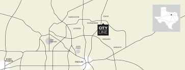 Dallas Fort Worth Area Map by Cityline Dfw