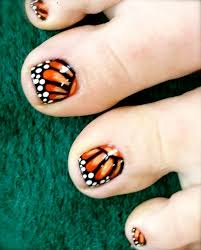 butterfly toe nail designs how you can do it at home pictures