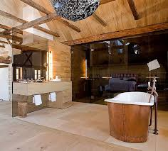 Bathroom With Stone Bathrooms Tiny Rustic Bathroom With Stone Fireplace And Oval