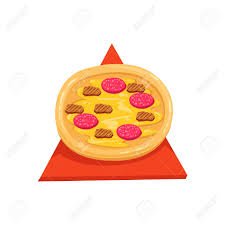 collection cuisine pizza with and sausage part of fast food cuisine