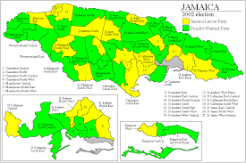 constituency map of jamaica image mag