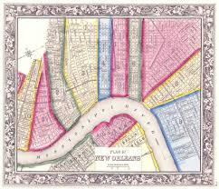 Map New Orleans by Map Of The Lower Wards Of New Orleans Uptown Is Not Pictured On