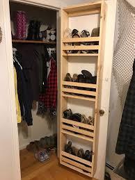shoe organizers for small closets best 25 diy cabinet door storage