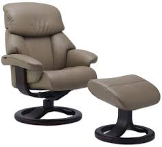fjords alfa 520 ergonomic leather recliner chair ottoman