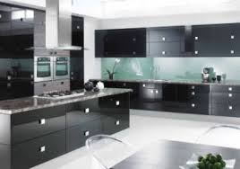 Black Lacquer Kitchen Cabinets High Glossy Black Finish Mdf Lacquer Kitchen Cabinet China