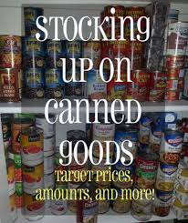 Pantry Inventory Spreadsheet Grocery Shopping Buying Canned Goods