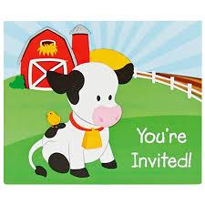 amazon com farm animal party supplies invitations 8 toys u0026 games