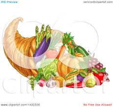 royalty free thanksgiving images clipart of a sketched thanksgiving cornucopia with vegetables