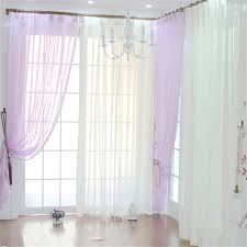 Purple Sheer Curtains Purple Lavender Sheer Curtains With Wide Striped Pattern