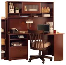 Computer Desks And Hutches Terrific Cherry Wood Computer Desk With Hutch 11 On House
