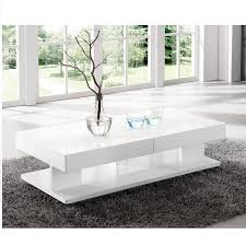 white end table with storage verona extendable high gloss coffee table in white 21025