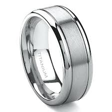 mens titanium wedding band titanium wedding ring men titanium wedding bands mens blushingblonde