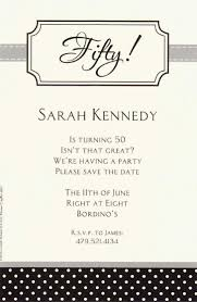 formal luncheon invitation wording formal 50th white paper materials birthday party invitation