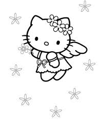 cute kitty coloring pages angel cartoon coloring pages
