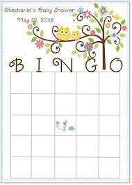baby shower bingo happi tree owl baby shower bingo cards