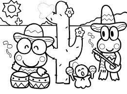mexico coloring page kero kero keroppi in mexico colouring page colouring tube