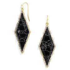 diamond shape baublebar women u0027s black diamond shape drop earrings u2013 ablogjewelry